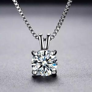 NWT Carbonized Diamond Pendant S925 Chain